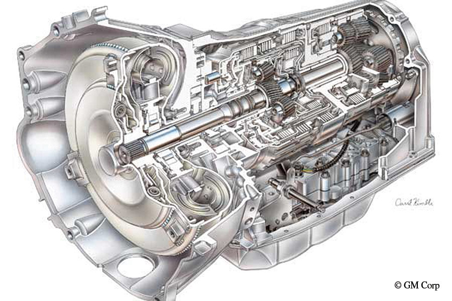A look inside the GM Six-Speed Hydramatic Transmission