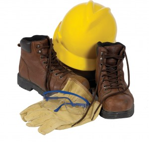 Hard Hat & Work Boots