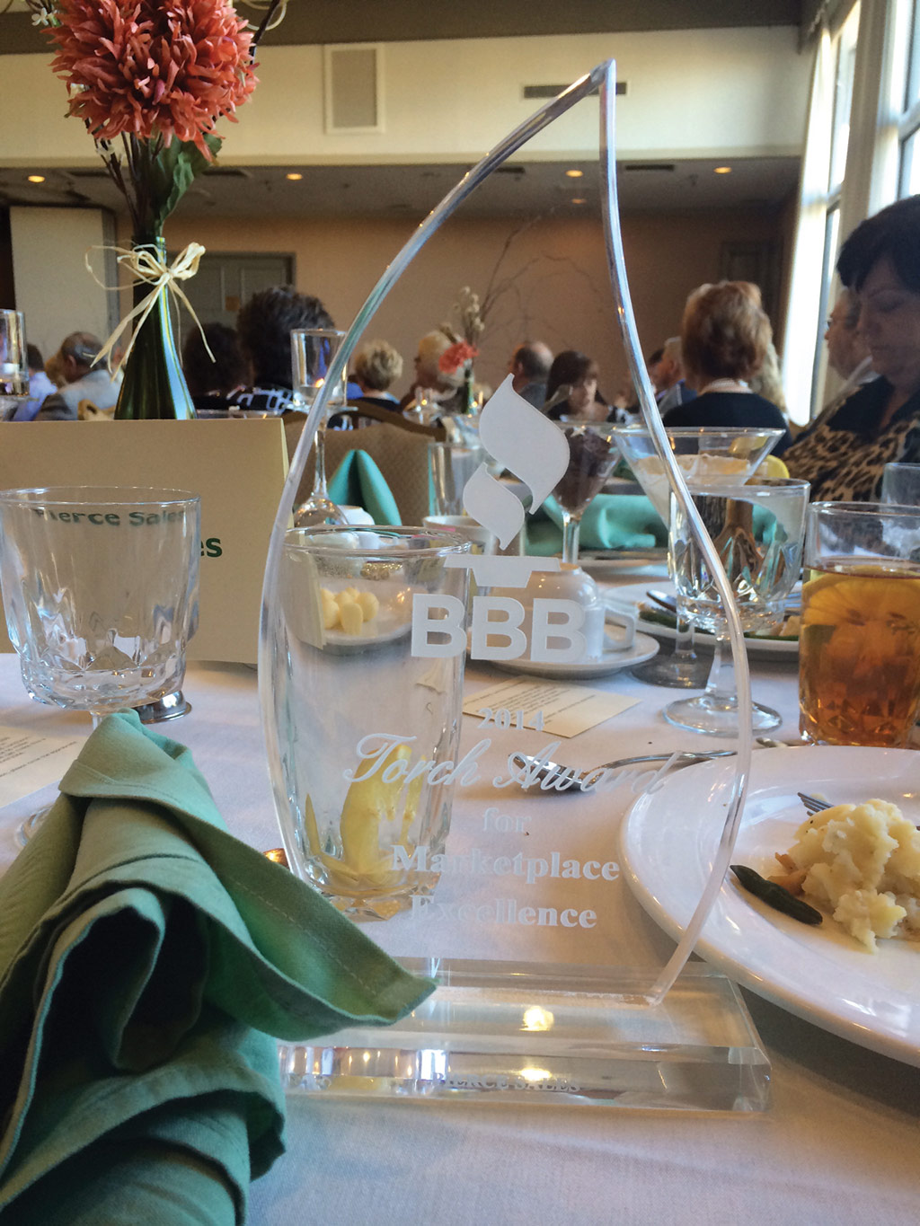 Pierce Sales Grabs the 2014 BBB Torch Awards
