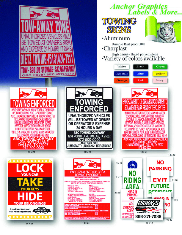 NCR Warning & Violation Stickers