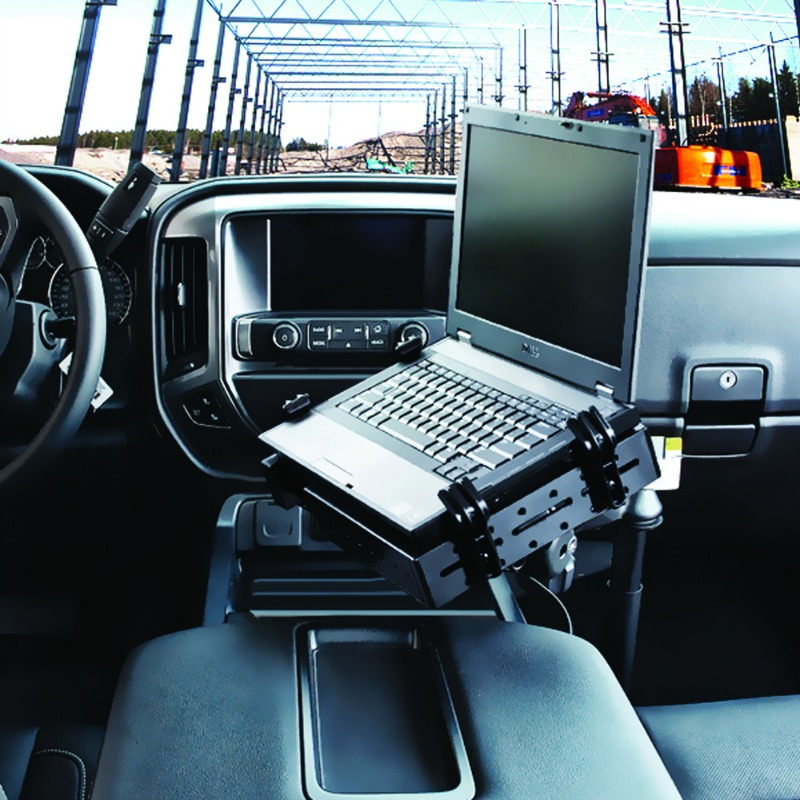 RAM Laptop Mount for the 2014/2015 Chevrolet Silverado, Suburban, Tahoe and GMC Sierra