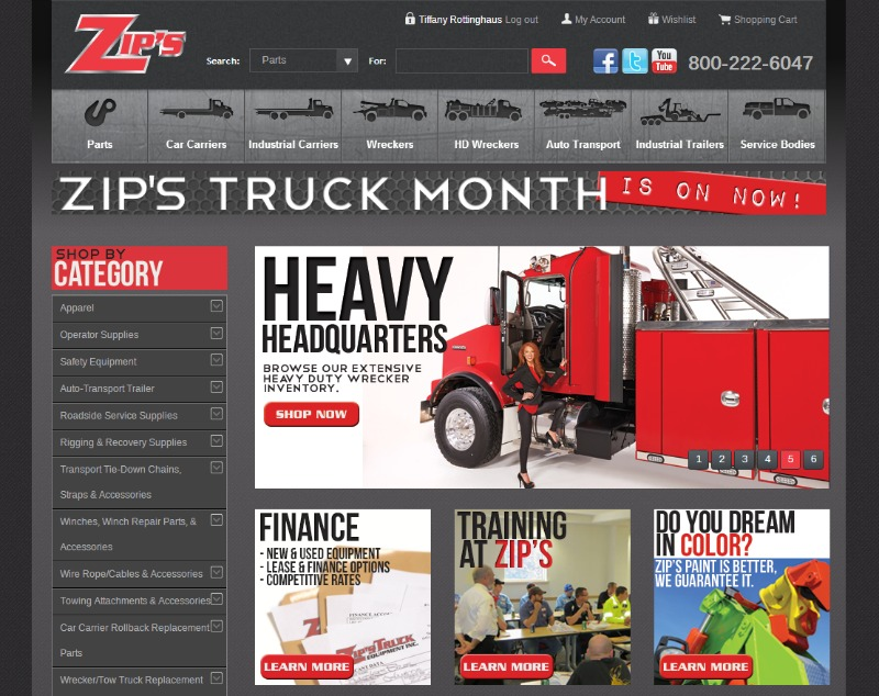 Zip's New and Improved Website