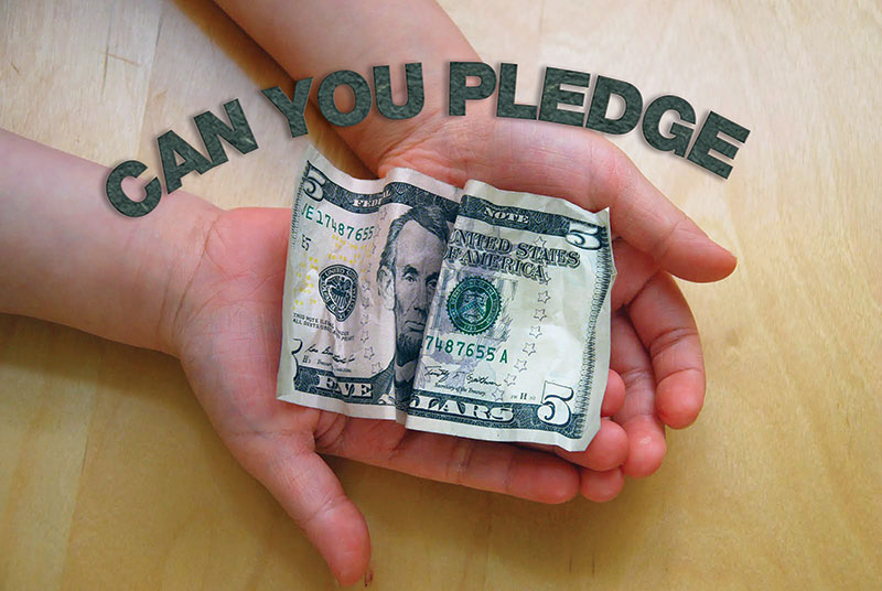 Can you pledge $5